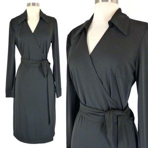 Express Black Wrap Dress (7/8)